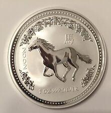 2002 Australia 1 oz Silver Year of the Horse Lunar Series I