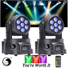 2x 7 LEDs 105W RGBW 4 in1 Moving Head Stage Lighting DMX-512 Wedding Disco Party