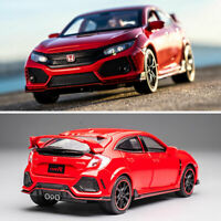1:32 Honda Civic Type R Model Car Diecast Toy Vehicle Kids Gift Collection Red