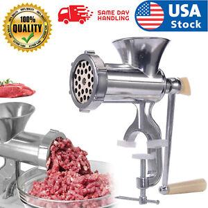 12# USA Meat Grinder Mincer Stuffer Hand Manual Sausa Filler Maker Machine Multi