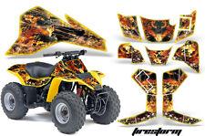 AMR Racing Suzuki QuadSport LT80 Decal Kit ATV Graphics Quad Sticker 87-06 FIRE