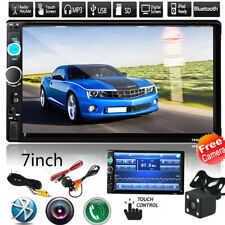 "7"" 2 DIN Car Multimedia FM Radio DVD CD MP5 Player Bluetooth HD Rear View Camera"