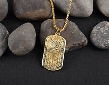 European Fashion Gold plate Pendant Chain Necklace Women Men charm Hiphop Jewely