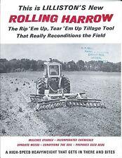 Farm Implement Brochure - Lilliston - Rolling Harrow - c1970's  (F5657)