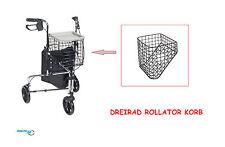 DREIRADKORB Rollator Korb Deltakorb Dreiradrollator MetallKorb Einkauf 9,5Kg NEU