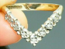 9ct Gold Vintage Diamond Wishbone Eternity ring size M