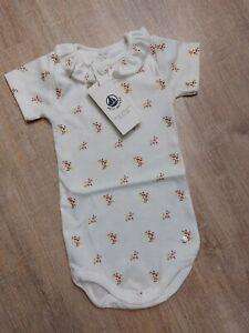 Petit Bateau Baby Mädchen Body Geblümt Gr. 74 NEU