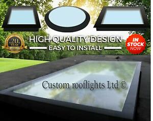 rooflight Skylight Flat Roof Light Glass  Roof Lantern Triple Glazed ALL SIZES