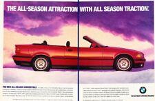 1994 BMW 325i Convertible Original 2-page Advertisement Print Art Car Ad K54