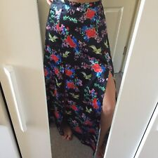 Reclaimed Vintage Maxi Skirt Size 8 Floral And Bird Print
