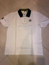 Lotus Apparel Mens Poloshirt - White / Green Size L Nwt