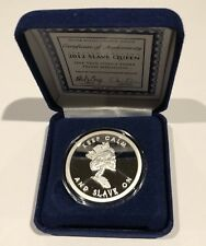 2012 Slave Queen Proof Coin SBSS Silver Bullet Shield 1 Troy Oz .999 Fine Round