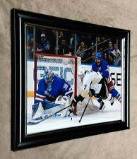 Rangers Henrik Lundqvist vs Penguins Sidney Crosby 8x10 Framed Photo