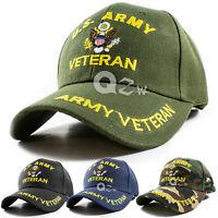 US Military Army Veteran Adjustable Polo Baseball Cap Hat  Navy Marine Air Force
