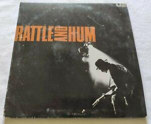 U2 2xLP RATTLE AND HUM VINYL 33 GIRI ITALY 1988 ISLAND RECORDS U27 EX/EX
