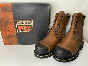 """Timberland Men's Pro Series Steel Toe Smelter Boots 10"""" Size 9 W  99524 NOS"""