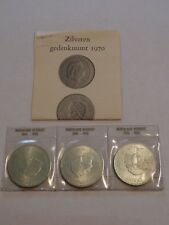 3 LOT SILVER 1970 10G NETHERLANDS COINS SEALED