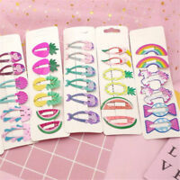 6 Pcs Girls Baby Hair Clips Snaps Hairpins Kawaii Hair Bow Cute Kids Accessories