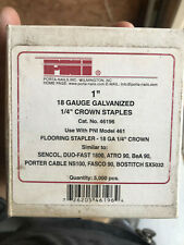 "Porta-Nails 46196 1"" Leg by 1/4"" Crown 18 Gauge Electro-Galvanized Staples Pni"
