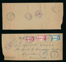 BSIP to BERMUDA REGISTERED + VICTORY ISSUE FRANKING 1947 BRITISH SOLOMON ISLANDS