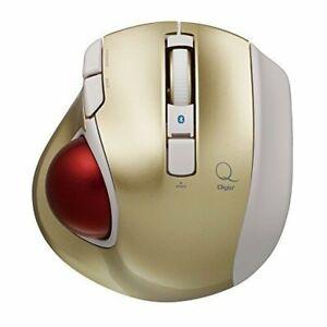 Nakabayashi Digio 2 Q Small Trackball Bluetooth Mouse Quiet 5 Button Gold 48374