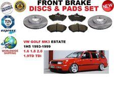 für VW Golf 3 III 1H5 Kombi 1993-1999 Vorderbremse Scheibensatz + BREMSBELÄGE