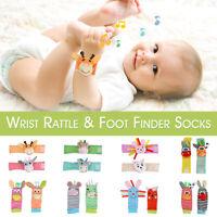 Baby Kid Wrist Rattle or Foot Rattles Finder Socks Educational
