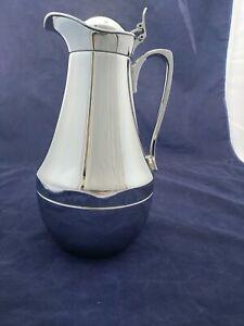 Alfi Chrome Glass Vacuum Thermal Coffee Tea Carafe 1 Ltr. Hot Cold Germany NWOB