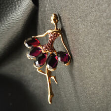 Beautiful Princess Ballerina Brooch Dancing Girl Elegant Pin Crystal Jewelry