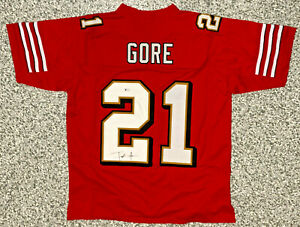 San Francisco Frank Gore Signed Jersey - Beckett BAS Witnessed COA