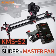 Konova Motorized Camera Slider Master Pan Bundle - Auto Live Interview Timelapse