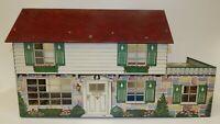 Vintage 1950s 1960s Marx Tin Litho 6-Room Dollhouse
