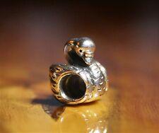 "Genuine Pandora "" The Swan Ugly Duckling HCA Charm "" Retired Very Rare No 790319"