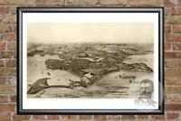 Vintage Winthrop, MA Map 1894 - Historic Massachusetts Art Victorian Industrial