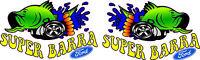 KILLER GRAFFIX QUALITY DIGITAL PRINT SUPER BARRA STICKER XR6 TURBO FORD ONE PAIR