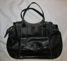 SONIA RYKIEL XL leather with accent stitch tote hobo travel  bag purse