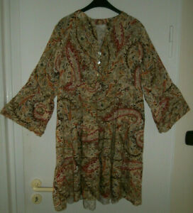 MARINA RINALDI Damen Bluse, Tunika, 3/4 Arm, Gr. L, mit Blumenmuster sehr schön