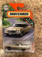 2018 RARE ROAD TRIP BLISTER MATCHBOX 1975 MET GOLD CHEVROLET CAPRICE 2DR MIB