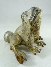 "Antique Cast Iron Figural Frog Lawn Sprinkler Vintage 1900s Retro Old 4.25"" Tall"