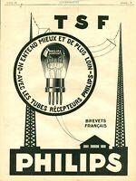 Publicité ancienne TSF Philips 1925 issue de magazine