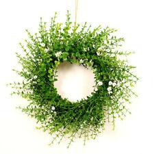 "Eucalyptus White Flower Wreath 16""  Greenery Wedding Event Home Door Decor"