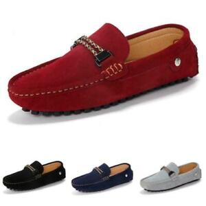 Mens Driving Moccasins Shoes Pumps Slip on Loafers Flats 5 Color Breathable 44