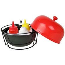 Set Sale Pepe Salsiera con Cosntenitor Barbecue per Condimento Grigliate bbq 5pz