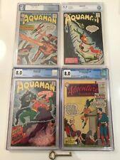 Aquaman #1, 11, 35, & Adventure Comics #260 CGC LOT 1st Black Manta Mera & Quisp