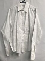 🌴Christian Dior Premier Pima Cloth Men's White Tuxedo Shirt French Cuff🌴