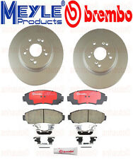Set of 2 Meyle GEOMET®Anti Rust Coated Front Rotors & Brembo Pads Acura Honda