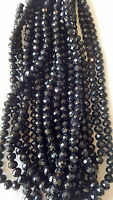 Joblot of 10 strings (720 beads) 10mm Black Colour Crystal beads new Wholesale