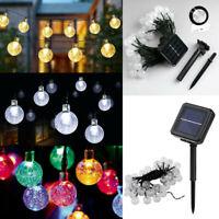 50LED Solar Powered Retro String Light For Garden Outdoor Fairy Summer Lamp