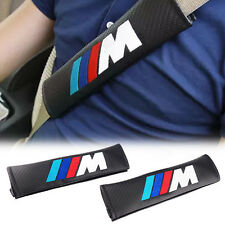 2x M power Car/SUV Belt Shoulder Cover Shoulder Cushion for BMW E39 E53 E60 E90