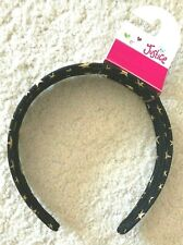 Justice Girls Black with Gold Star Hair Band, One Size MSRP $9.90